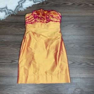 Anthro Phoebe Silk Strapless Dress Size 2